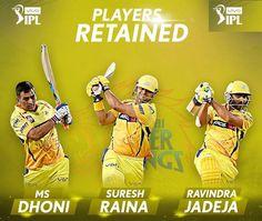 Chennai Super Kings retained MS Dhoni Suresh Raina & Ravindra Jadeja for IPL 2018 - http://ift.tt/1ZZ3e4d
