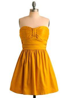 Tasteful in Turmeric Dress - I love a yellow dress! Mod Dress, Dress Up, Nice Dresses, Summer Dresses, Awesome Dresses, Cheap Bridesmaid Dresses, Bridesmaids, Mustard Dressing, Offbeat Bride