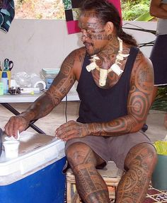 Full body tattoo, Marquesas by U Jay, via Flickr #Marquesantattoos