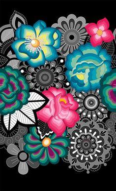 Surya Cinza. Fabric from Tea, See... Do! Adriana Barra