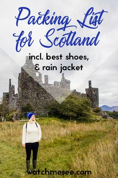 Packing Tips & the ultimate Packing List for Scotland Watch Me See This post includes my top Scotland packing tips for every season, which essentials to bring with you, how to fit everything in a carry on (and why you should) and my ultimate packing l Ultimate Packing List, Packing Tips For Vacation, Travel Packing, Vacation Travel, Suitcase Packing, Vacations, Vacation Checklist, Europe Packing, Traveling Europe