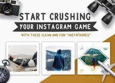 Travel Instagram Frames by Brandspark on @creativemarket