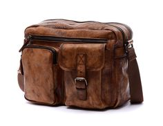 13 men's Leather messenger bag crossbody bag laptop by nooooin