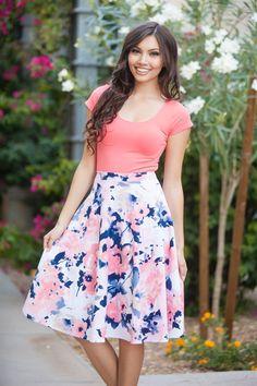 What is there not to love about an A-Line Skirt? We love them so much we may keep one in every color! The shape and fit is so flattering and the length…