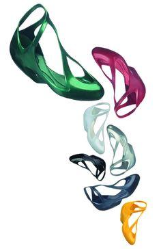 Zaha Hadid Melissa plastic dreams — Touchey Design Magazine - Ideas and Inspiration http://www.touchey.com/post/15395782877/melissa-plastic-dreams