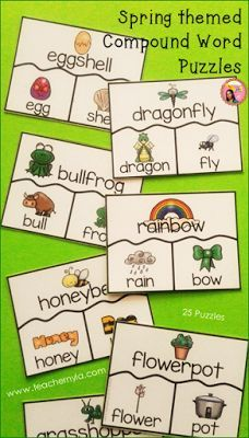 Compound Word matching activities for Spring $