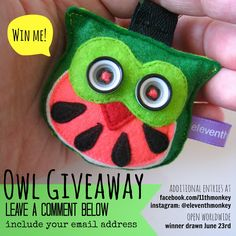 Watermelon Owl Giveaway