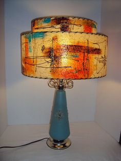 Mid Century Modern Lamp and Hand Painted by debrasoriginals, $195.00