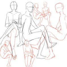 ALMOST AS COOL AS YOU — someone asked about sitting poses so i drew a...