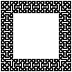 Islamic interlacing pattern-beautiful border
