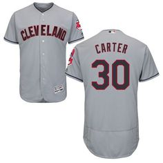 02ca53ede Indians  30 Joe Carter Grey Flexbase Authentic Collection Stitched MLB  Jersey