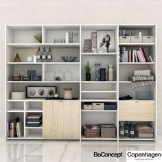 Setting Up New Office Space? Forget About Needing Furniture! Boconcept, Small Office Furniture, Home Decor Furniture, Dining Room Office, Office Decor, Living Room Shelves, 3d Models, Shelving, Room Decor