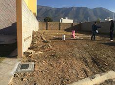 5 de febrero 2016 / empieza construcción  Desnivel diferencia 80 cm aprox