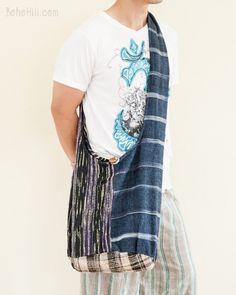 One of A Kind Handwoven Cotton Patchwork Shoulder Bag (MB-40)