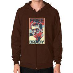 Free Brady Zip Hoodie (on man) Shirt
