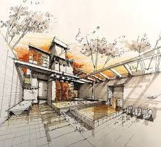 Image result for architectural sketches of buildings