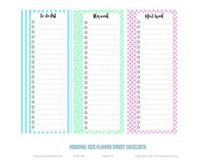 Happy Planner Checklists -preview