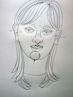 Artsmudge self portrait for kids. A simple step by step instruction on how to draw a self portrait
