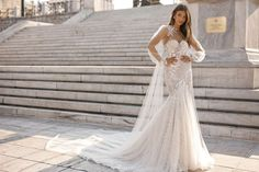 Wedding Dresses / Berta Bridal collection f / w, silhouette mermaid, neckline illusion, long, with sleeves Muslim Wedding Dresses, Wedding Dress Trends, Wedding Blog, Diy Wedding, Wedding Ideas, Bridal Collection, Dress Collection, Bridal Gowns, Wedding Gowns