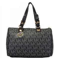 Michael Kors Outlet Logo Large Black Satchels $65.99 Shop is all you Neeed !