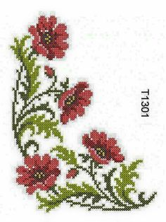 u filet crochet Dholvsa Cross Stitch Letters, Just Cross Stitch, Cross Stitch Flowers, Free Machine Embroidery, Embroidery Patterns, Stitch Patterns, Crochet Patterns, Cross Stitching, Cross Stitch Embroidery