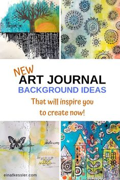 Discover new art journaling background ideas that will inspire you to create art journal pages with fun and easy techniques. Art Journal Pages, Art Journal Backgrounds, Art Journal Prompts, New Backgrounds, Art Journals, Journal Ideas, Amazing Backgrounds, Junk Journal, Visual Journals