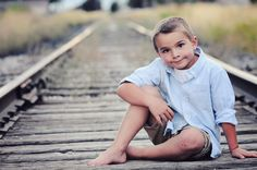 Family Photos - MCF photography, Little boy Pictures, Train Tracks poses, Childhood Photography