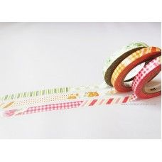 mt Slim Pink Green Orange Washi Tape