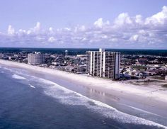 Florida Memory - Aerial view of hotels at the beach - Jacksonville, Florida 1981