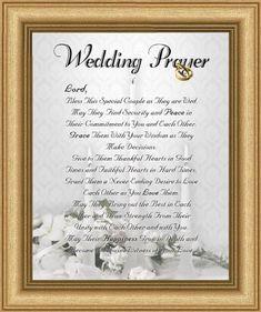 Wedding Marriage Anniversary Prayer Satin Gold Frame 8 X 10 Inspirational Gift Wall