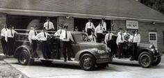 The Wading River fire department staff poses on...1940's