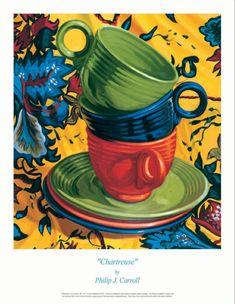 Fiesta,China,Fiesta Poster,Medium Green,Paintiings,Water Colors ...