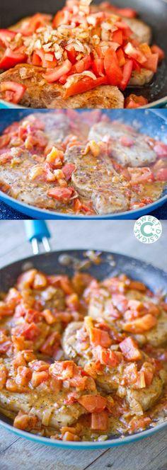 One Pan Tuscan Pork Chops