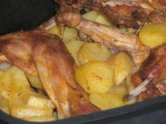 Králik nadivoko so zemiakmi