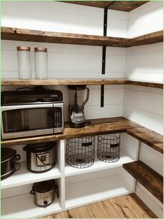 Bauernhaus Pantry Renovierung Farmhouse Pantry renovation - Own Kitchen Pantry Kitchen Pantry Design, Kitchen Pantries, Kitchen Cabinets, Sage Kitchen, Kitchen Pantry Storage, 10x10 Kitchen, Pantry Cupboard, Rustic Kitchen Design, Kitchen Counters