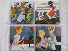 Set of 4 Peter Pan ceramic coasters - made with a real vintage book. $16.99, via Etsy.