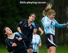 Come on people, it was just bad timing for the photo! Not all girls play like that!