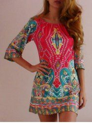 SHARE & Get it FREE | Bohemian Style Off The Shoulder 3/4 Sleeve Printed Women's DressFor Fashion Lovers only:80,000+ Items • New Arrivals Daily • Affordable Casual to Chic for Every Occasion Join Sammydress: Get YOUR $50 NOW!
