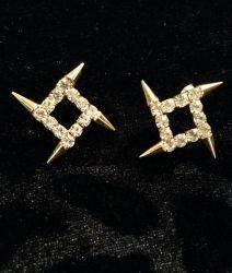 Gold Diamond Spike Stud Earrings for sale at Glamhairus.com