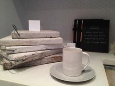 Darryl Carter, Inc. | Who wouldn't love to warm up with a hot cup of joe in this beautiful ceramic cup and plate set?