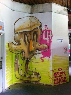 ARSEK & ERASE AT STROKE URBAN ART FAIR'2012 MUNICH, GERMANY