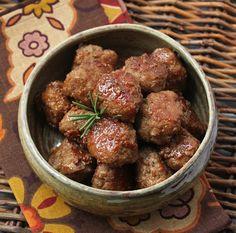 Bourbon & Cider Glazed Turkey Meatballs | I Breathe I'm Hungry