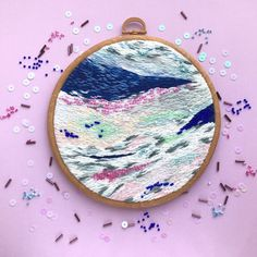 Abstract embroidery. Basya