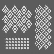 Pochoir ethnique Stencil Patterns, Stencil Designs, Mosaic Patterns, Print Patterns, Motif Art Deco, Classic Ceiling, Cake Stencil, Geometric Pattern Design, Drawing Projects
