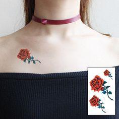 Rose fake tattoo, Tattoo, Temporary Tattoo, Tattoo Sticker, Sticker #faketattoo#Tattoo#TemporaryTattoo#TattooSticker#Sticker #TemporaryTattoo Real Tattoo, Fake Tattoos, Flower Tattoos, Tattoo Stickers, Tatuajes Tattoos, Ink Transfer, Temporary Tattoo, Body Art, Dyes