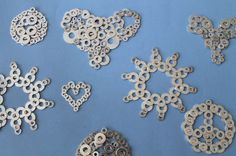 How to Turn Washers into Snowflakes | Brit + Co.