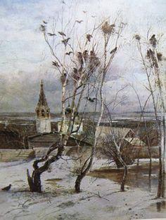 Vintage postcard Savrasov 18301897  Rooks Have by BornInTheSoviet, $2.80
