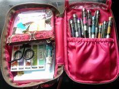 Re-purposing Makeup Travel Cases as a Pen Case