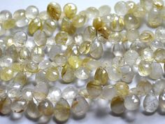 Golden rutile pear faceted beads strands (Code-22\38)...   http://etsy.me/1uhV0G4, http://etsy.me/1mFe0ZJ  #goldenrutilepear