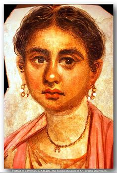Fayum Portrait of a Woman, c. A.D.200. The Toledo Museum of Art.